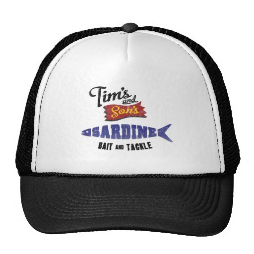Tim's and Son's Sardine, Bait and Tackle Shop Hats