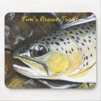 Tim's Brown Trout Mouse Mat