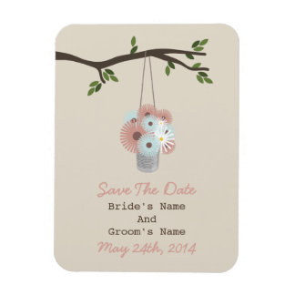 Tin Can Of Daisies Wedding Save The Date Magnet