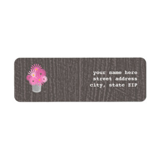 Tin Can Of Wildflowers Valentine's Address Label
