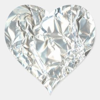 Tin Foil Diamond Heart Sticker