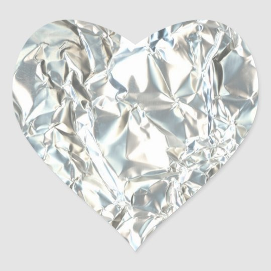 Tin Foil Diamond Heart Sticker