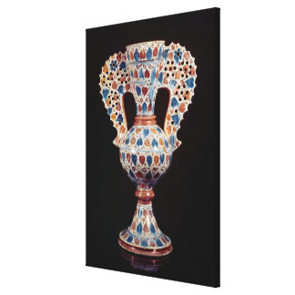 Tin-glazed vase with lustre decoration gallery wrap canvas