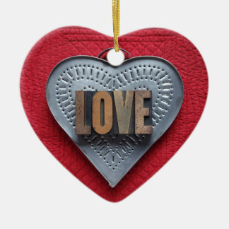 tin heart love heart ornament
