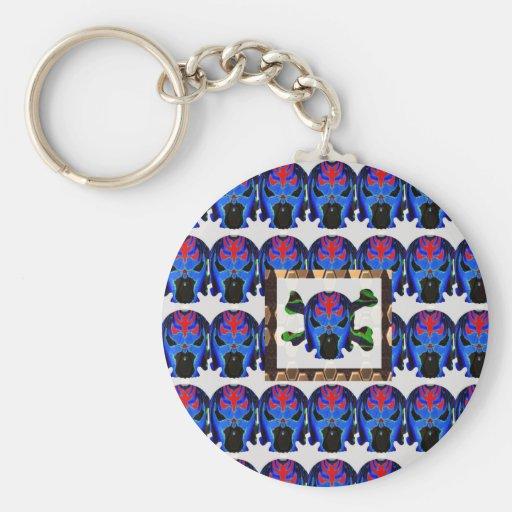 TIN Man BLUE - Ghost Skull Halloween FUN KIDS Gift Keychains
