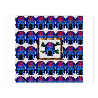 TIN Man BLUE - Ghost Skull Halloween FUN KIDS Gift Postcard