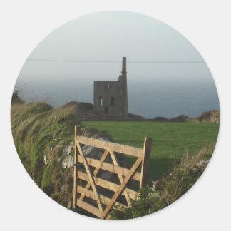 Tin mine Cornwall Classic Round Sticker