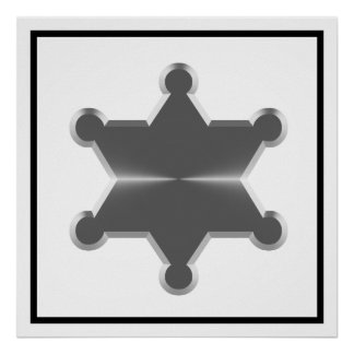 Tin Star Sheriff Print