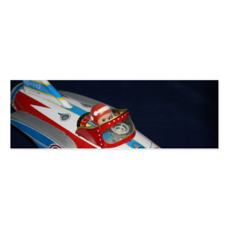 Tin Toy Space/Rocket Ship Book Mark Pack Of Skinny Business Cards