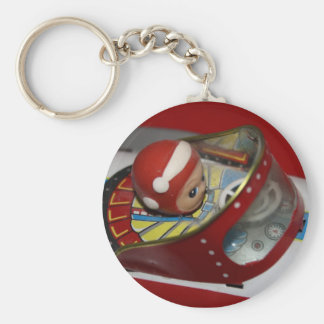 Tin Toy Space/Rocket Ship Key Chain