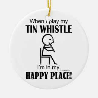 Tin Whistle Happy Place Christmas Tree Ornament
