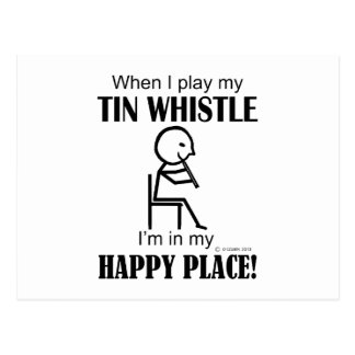 Tin Whistle Happy Place Postcard