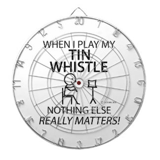 Tin Whistle Nothing Else Matters Dartboard With Darts