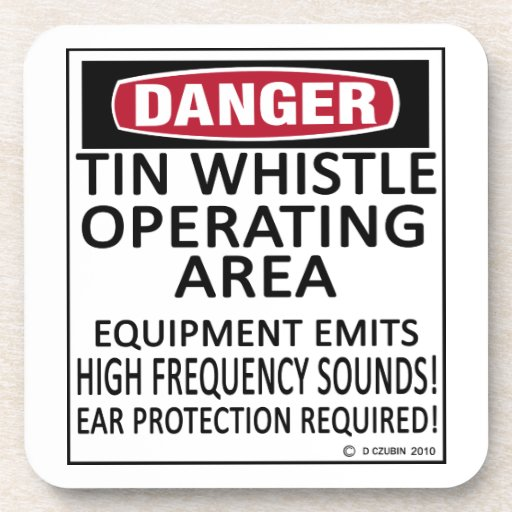 Tin Whistle Operating Area Drink Coaster