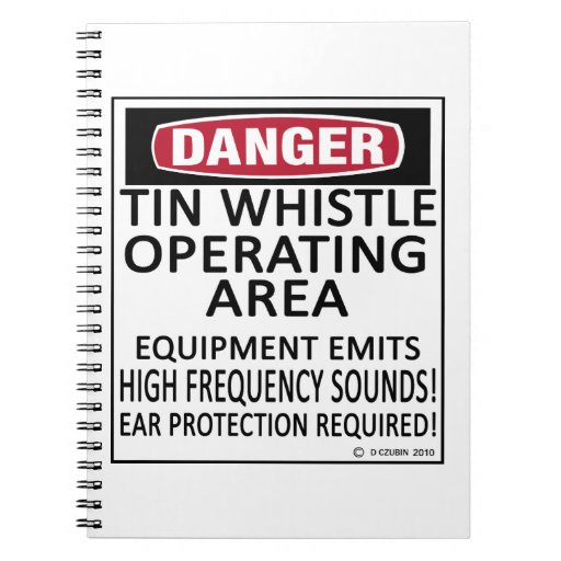 Tin Whistle Operating Area Notebook