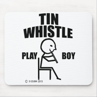 Tin Whistle Play Boy Mouse Pad