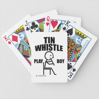 Tin Whistle Play Boy Bicycle Poker Cards