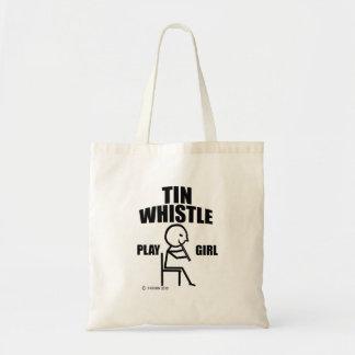 Tin Whistle Play Girl Canvas Bag