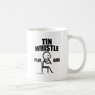 Tin Whistle Play Girl Mugs
