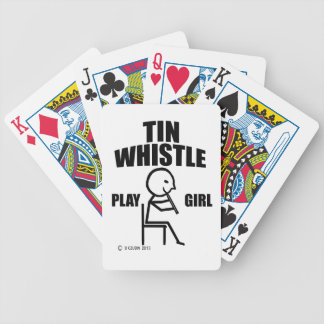 Tin Whistle Play Girl Poker Cards