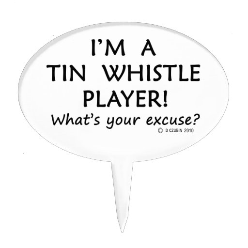 Tin Whistle Player Excuse Cake Toppers