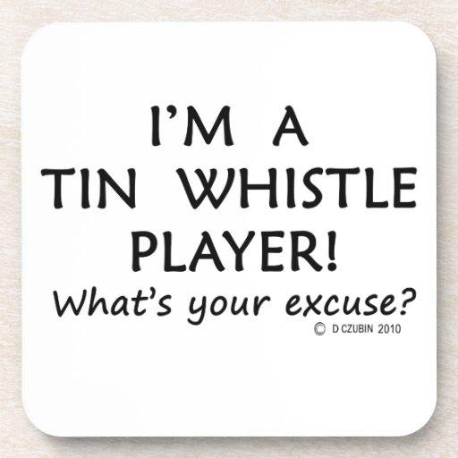 Tin Whistle Player Excuse Coasters