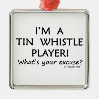 Tin Whistle Player Excuse Christmas Ornaments