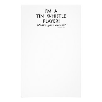 Tin Whistle Player Excuse Personalised Stationery