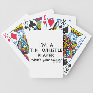 Tin Whistle Player Excuse Bicycle Card Deck