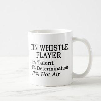 Tin Whistle Player Hot Air Basic White Mug