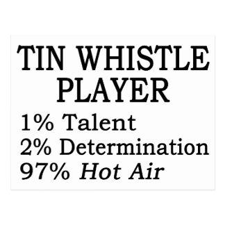 Tin Whistle Player Hot Air Postcard