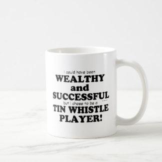 Tin Whistle Wealthy & Successful Basic White Mug