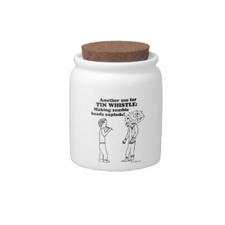 Tin Whistle Zombie Explode Candy Jars
