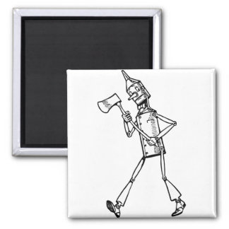 Tin Woodsman Square Magnet