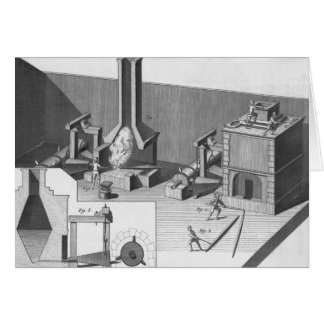 Tin workshop, engraved by Benard, Robert Card