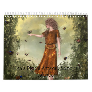 Tina's Digital Artwork Sampler Wall Calendars
