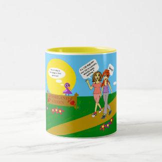 Tina's WalkingMug Two-Tone Coffee Mug