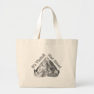 Tinfoil Hat Time Large Tote Bag