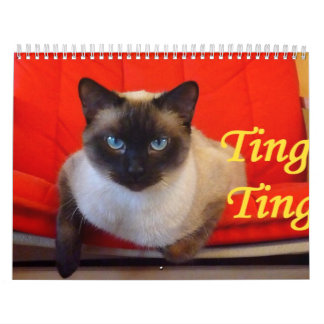 Ting Ting the Siamese Cat Calendars
