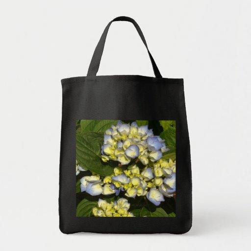 Tinged-Blue White Hydrangeas Canvas Bag