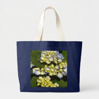 Tinged-Blue White Hydrangeas Jumbo Tote Bag