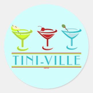TINI-VILLE ROUND STICKER