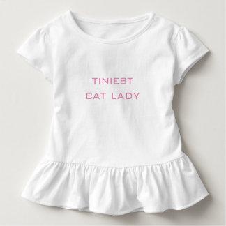 Tiniest Cat Lady Baby Top Cute Ruffle Shirt