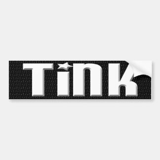 Tink Bumpersticker - Black & White Stars Bumper Sticker