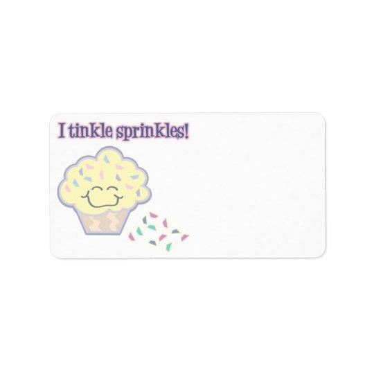 tinkle sprinkles funny cupcake address label