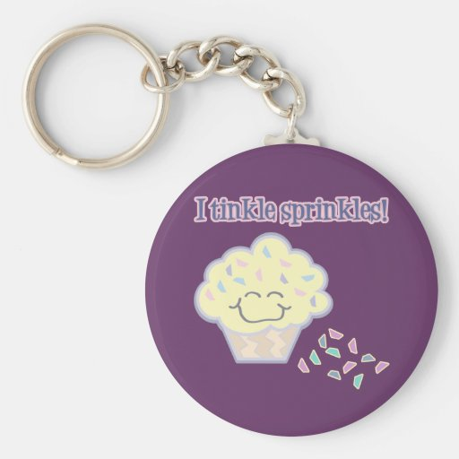 tinkle sprinkles funny cupcake key chains