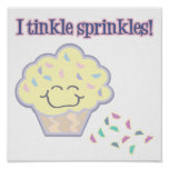 tinkle sprinkles funny cupcake poster