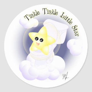 Tinkle Tinkle Little Star Classic Round Sticker