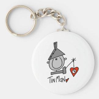 Tinman Basic Round Button Key Ring