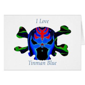 TINMAN BLUE Icon : Amusing Funny Cartoon Cards